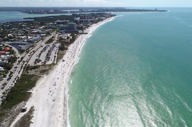 Lido Beach and Lido Key in Sarasota, Florida.