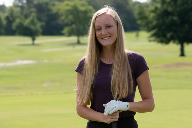 Laney's Grace Holcomb poses at the Wilmington Municipal Golf Course as the StarNews All-Area Girls Golfer of the Year.