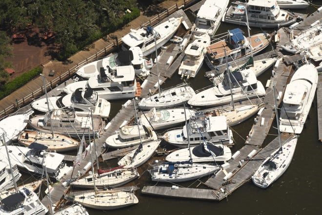 The Southport Marina was damaged after Hurricane Isaias made landfall last year. A suit is now claiming the boat owners should not be responsible for the damage.