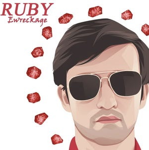 """The cover of Ewreckage's new album, """"Ruby."""""""