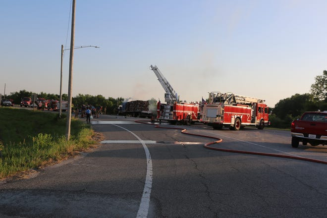 A two-car collision turned into a fire on Highway 69 bypass Wednesday night.