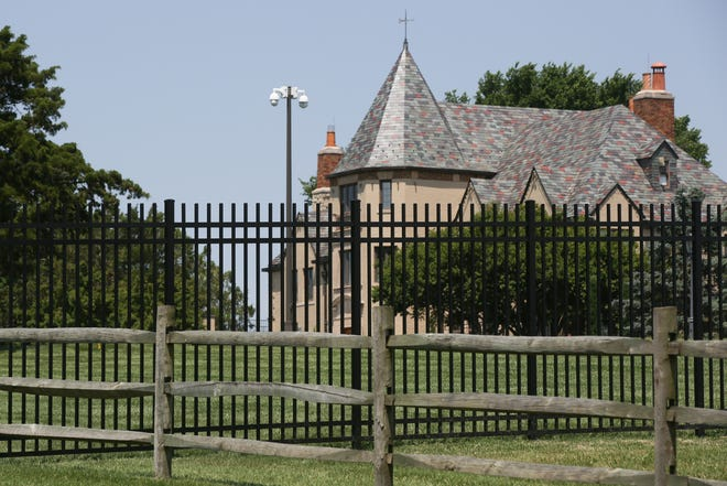 A permanent metal fence is being erected at Cedar Crest, the residence of Gov. Laura Kelly, and is expected to cost $217,000, the Kansas Department of Administration said Thursday.