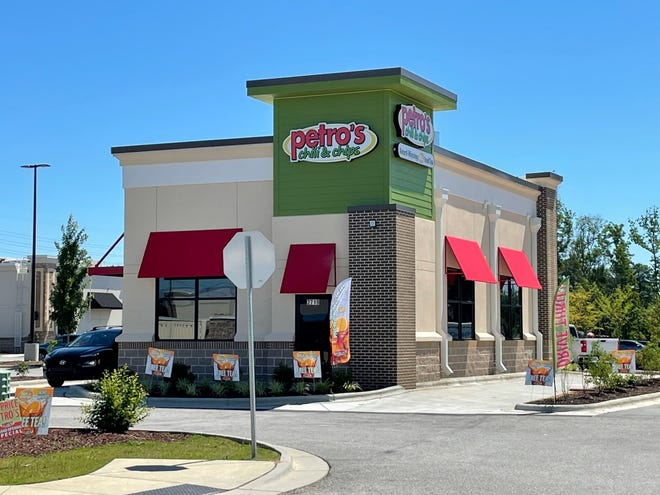 Petro's Chili & Chips is located at 2719 Freedom Parkway Drive in Fayetteville.