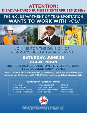 The workshop is aimed at helping disadvantaged business owners better compete for contracts with the North Carolina Department of Transportation.
