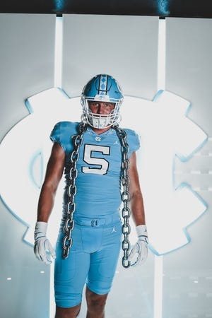 Leesville Road 2022 four-star edge rusher Beau Atkinson visited UNC earlier this month and committed on June 16. He is the Tar Heels' fifth 2022 verbal commit, its second in-state 2022 commit (Malaki Hamrick) and its fourth four-star 2022 commit (Hamrick, cornerback Tayon Holloway, wide receiver Tychaun Chapman).