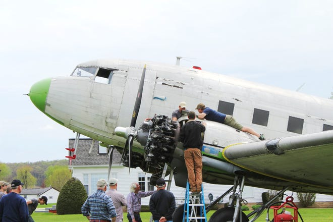 Repairs were made on the Beach City Baby before the aircraft left for Pennsylvania.