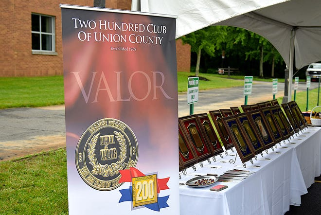Valor awards were recently presented to 21 Union County police officers and firefighters from the 200 Club of Union County for acts above and beyond the call of duty