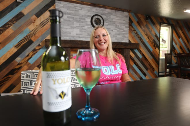 Wendy Guilliams opened Yolo Winery near Plainfield on April 1 after the COVID-19 pandemic temporarily closed her other business, Flip-N-Out Gymnastics and Cheer.