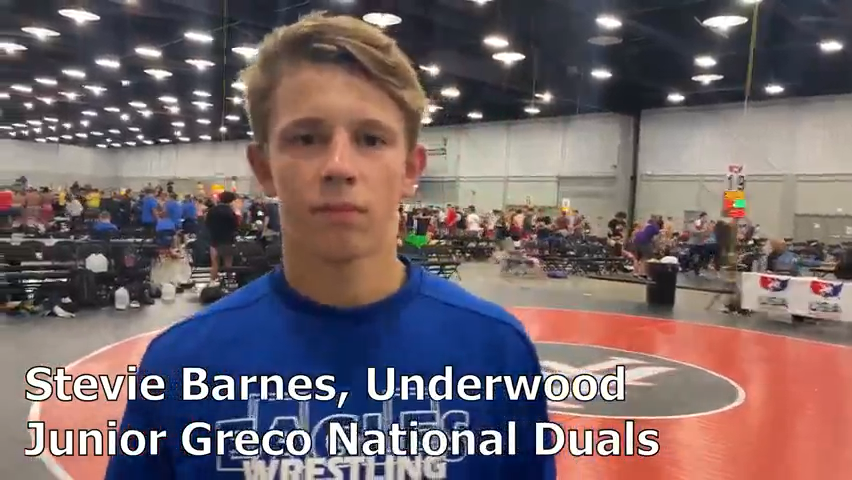 Underwood's Stevie Barnes recaps his strong performance at the Junior Greco National Duals