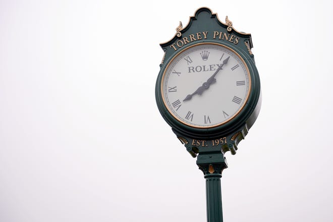 The course Rolex Clock during the first round of the U.S. Open golf tournament  June 17, 2021 at Torrey Pines Golf Course in San Diego.