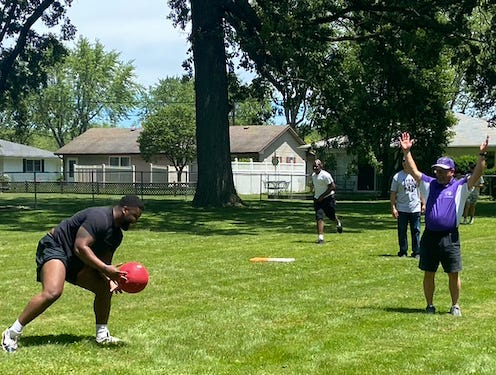 The City of  Fremont held its first Community Cookout of the summer Wednesday at Biggs-Kettner Park. The event included kickball games, basketball and other activities for children.