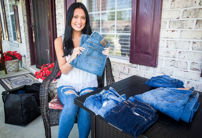 Wes-Del student Averie Jamison in Muncie Wednesday, June 16, 2021. Jamison started Fresh Threads in 2019 as a way to donate clothing to the annual Tools for School event.
