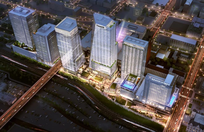 A rendering of Pinnacle Financial Partners' new offices at Nashville Yards development.