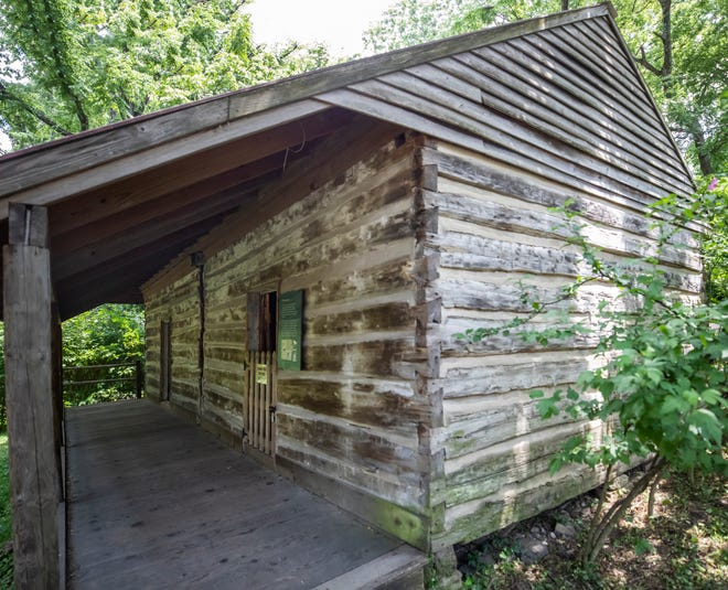 Exterior photo of the refurbished cabin on the Nashville Zoo at Grassmere property where tenant farmer Frank Morton and his family lived during the early and mid 1900s taken Wednesday, June 16, 2021.  Originally a cabin for slaves on the farm, it has been turned into an exhibit to show the history of the Morton family.