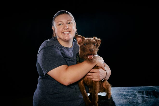 """Alexa White, owner of Meraki K9 in Wixom, will compete with her terrier, Frank, on the A&E show, """"America's Top Dog"""" on June 29."""