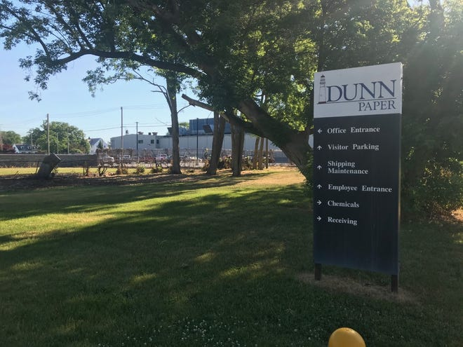 A small fire occurred at Dunn Paper Co. in Port Huron, Thursday, June 17, 2021.