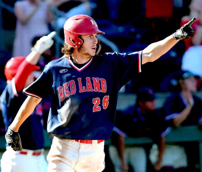 Benny Montgomery, seen playing for Red Land High School in June, is now considered baseball's No. 98 minor-league prospect by MLB.com.