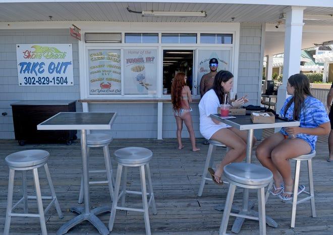 Shore Break sells a variety of treats for beach-goers Thursday, June 17, 2021, in Bethany Beach, Delaware.