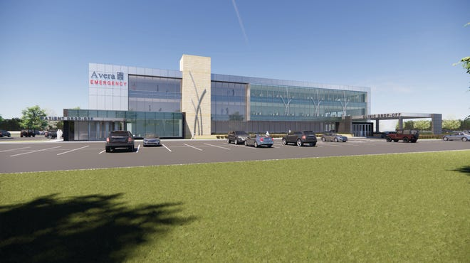 An artist's rendering shows what the new Avera family health care facility will look like at Highway 11 and East 26th Street in Sioux Falls.