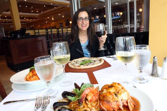 Lohud Food and Dining Reporter Jeanne Muchnick at the new Chazz Palminteri Restaurant & Pizza in White Plains on June 15, 2021.