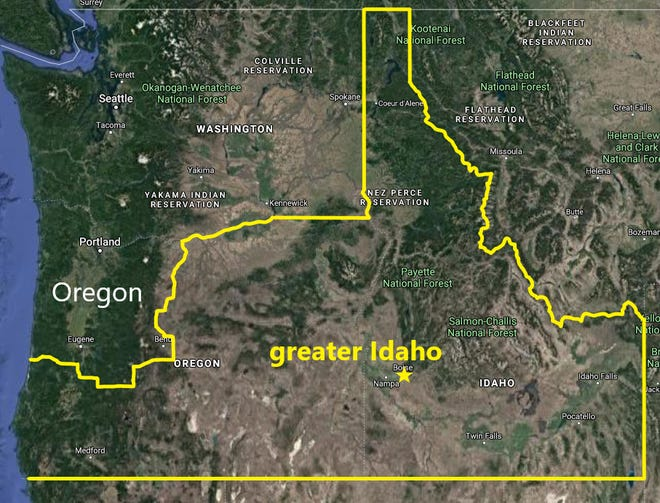 What Oregon might look like if the Greater Idaho Movement's proposal succeeds may be dramatically different than the state's current geography.