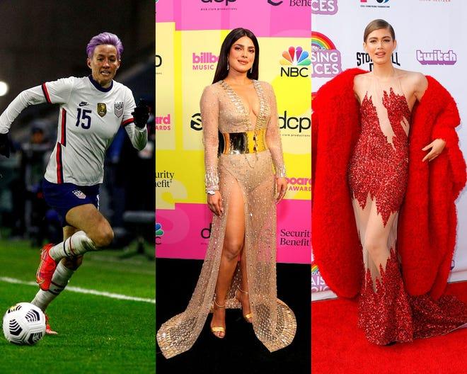 Victoria's Secret names Megan Rapinoe, Priyanka Chopra, Valentina Sampaio and more as the new faces of the lingerie brand.