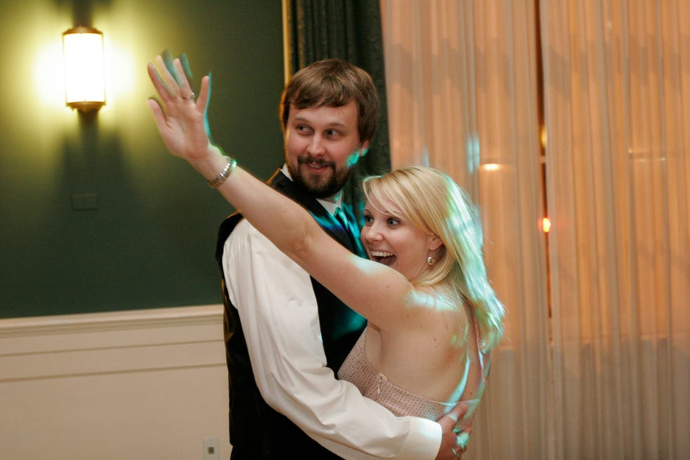 Matt and Liz Logelin on their wedding day. Liz died shortly after giving birth to their child, Maddy.