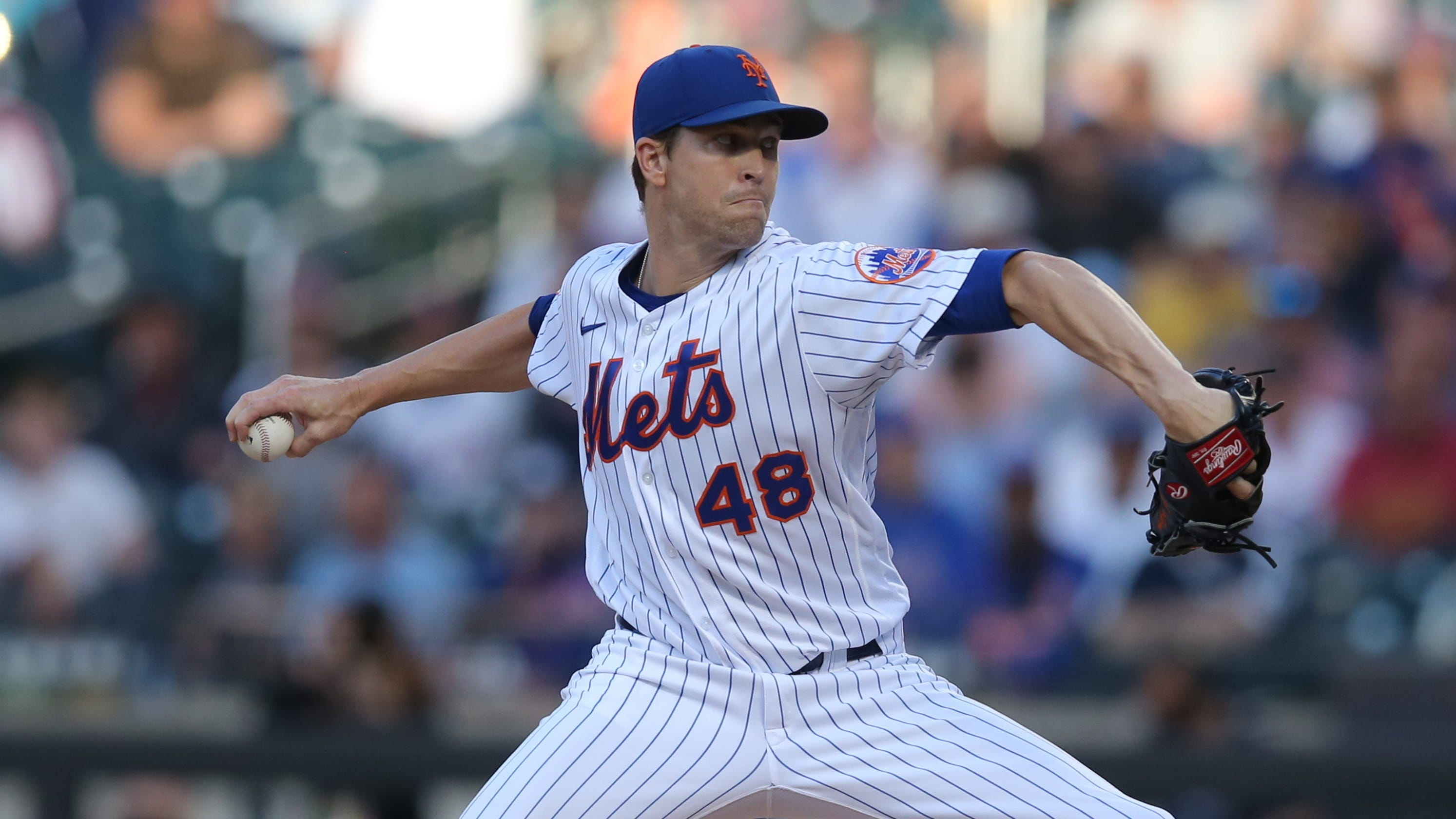 New York Mets ace Jacob deGrom exits start after 3 innings due to right shoulder soreness