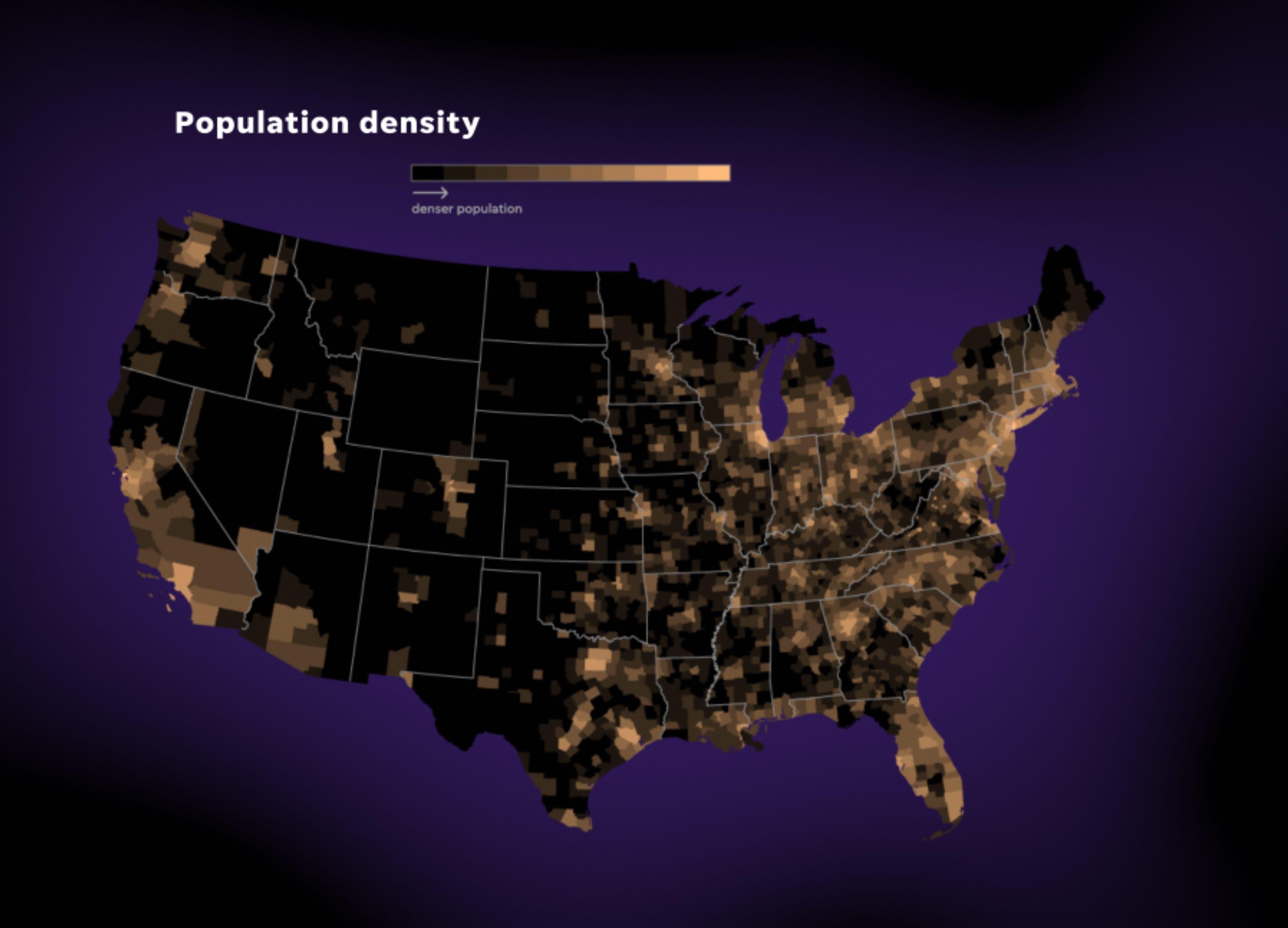 US population density.