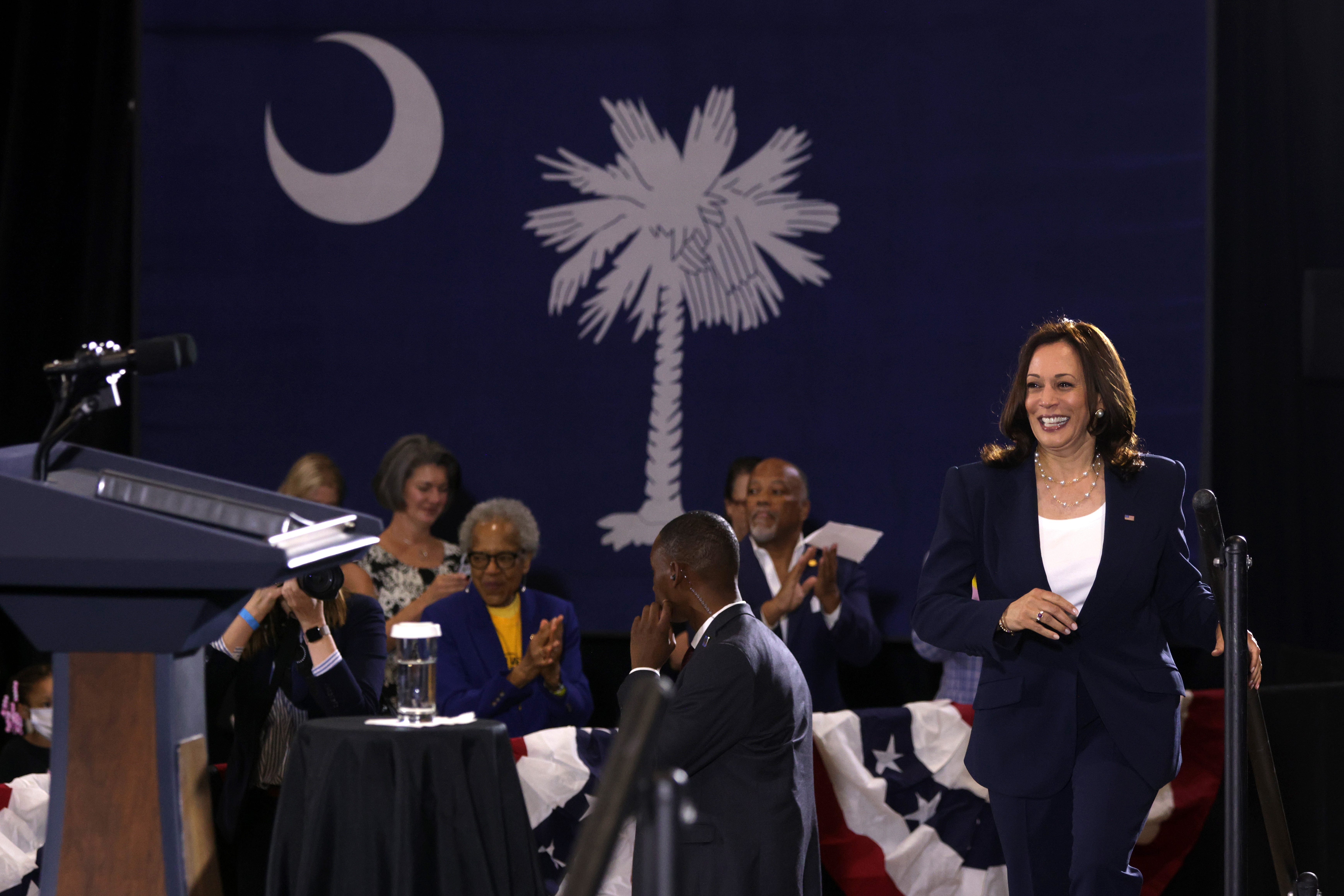 Harris  steps into high-wire act on voting rights as pressure builds on election bills