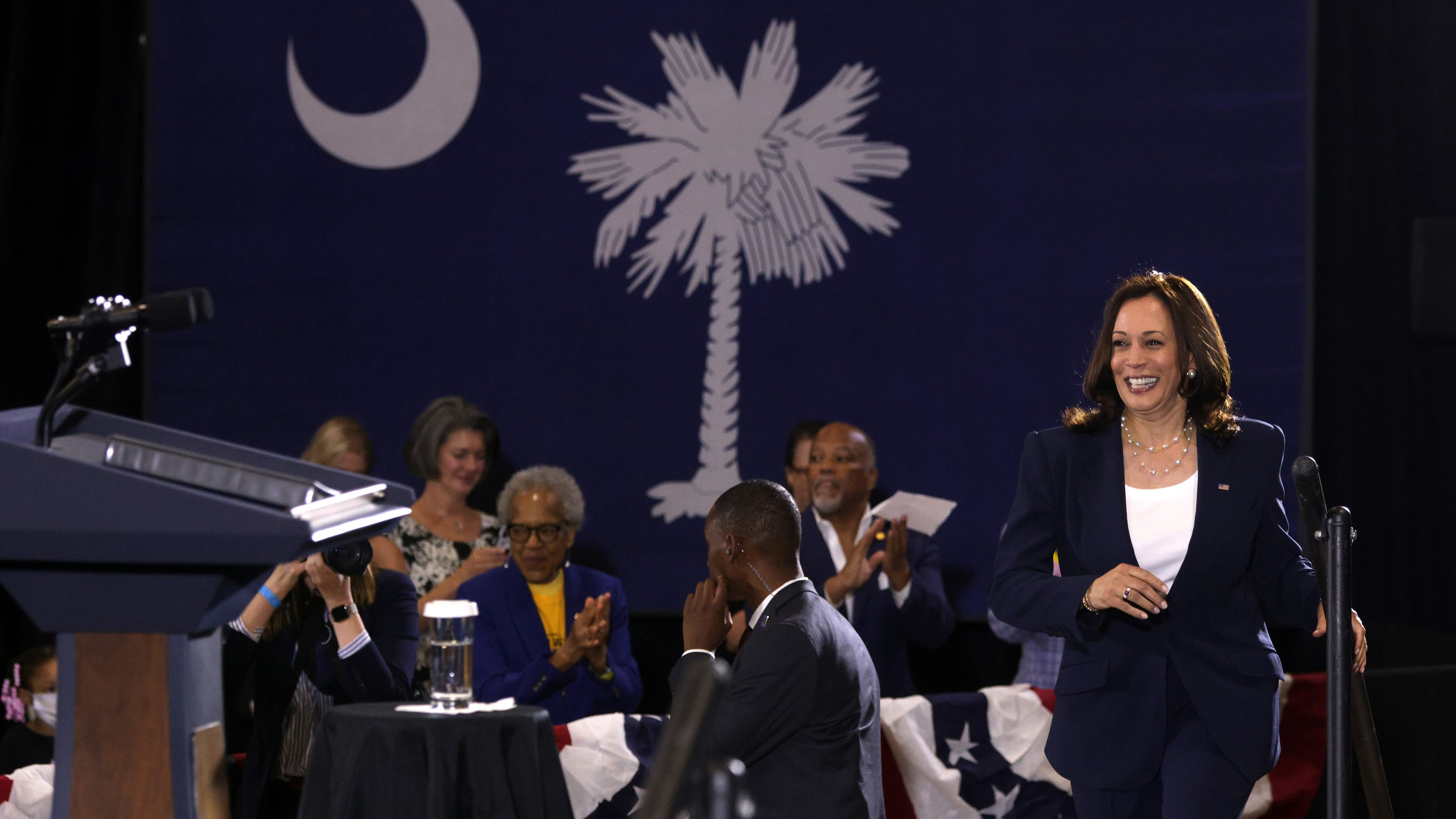 Harris' steps into high-wire act on voting rights as pressure builds on election bills