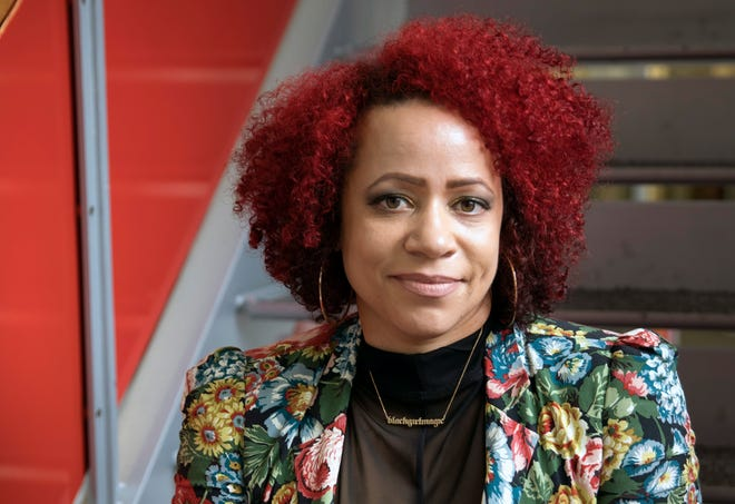 Nikole Hannah-Jones in New York on Oct. 10, 2017. Hannah-Jones, a Pulitzer Prize-winning writer for The New York Times Magazine, and the main architect of its 1619 Project, was initially denied a tenured position at UNC-Chapel Hill, after the university's board of trustees took the unusual step of failing to approve the journalism department's recommendation. On Wednesday, after protests and a national debate, the trustees extended an offer of tenure. (James Estrin/ The New York Times)