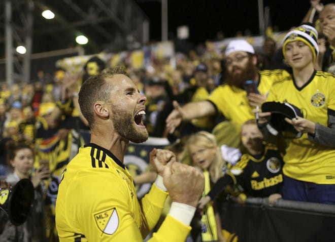 Crew defender Josh Williams, pictured after a game in 2017, said his aspirations to be a professional soccer player began when he attended his first game at Crew Stadium in 1999.