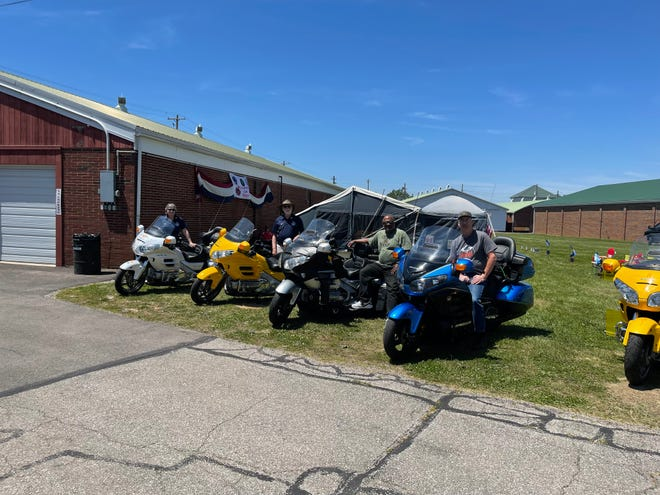 The Ohio Gold Wing Road Riders met up in Wooster at the Wayne County Fairgrounds for the weekend before they all head west to the national Wing Ding event in Missouri next weekend.