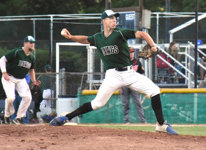 Sal Fusco capped a five-inning, 13-strikeout performance Thursday with four in the fifth inning of of the Mohawk Valley DiamondDawgs' 21-2 win over the Glens Falls Dragons.