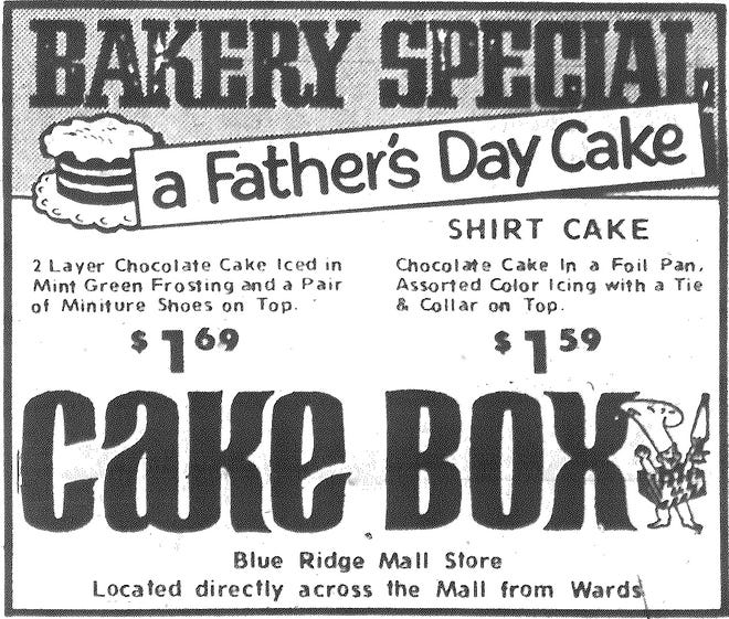 An ad in The Examiner 50 years ago this week.
