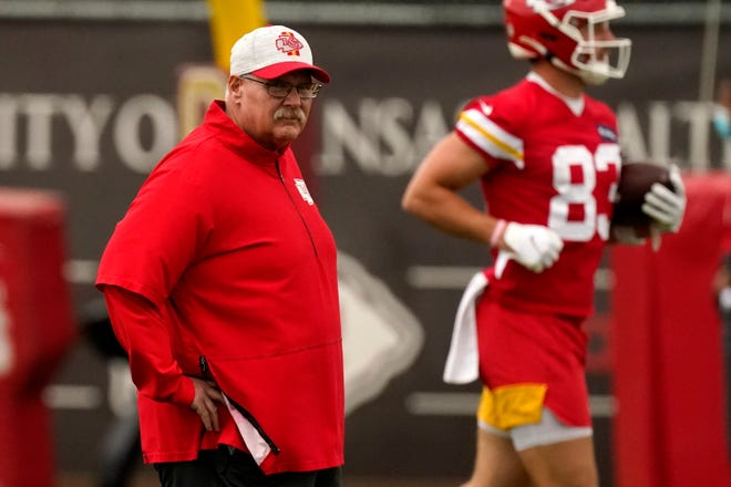 Kansas City Chiefs head coach Andy Reid was happy to get some actual work in during recent camps instead of working remotely.