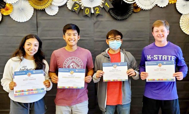 Garden City High School's Jasmin Flores, left, Tam Nguyen, Quan Pham and Zach Warren have been recognized nationally for their community service in Garden City.