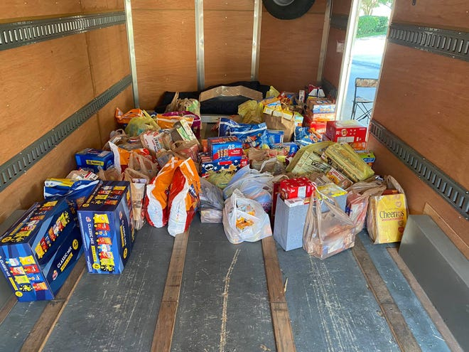 The Somervell County Food Bank (PaPa's Pantry) was the recipient of these items from a food drive held at Glen Rose Medical Center last week.