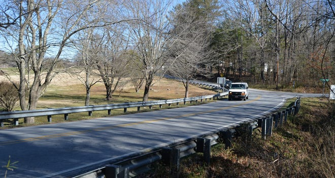 This file photo shows North Highland Lake Road in Flat Rock. The N.C. Department of Transportation recently awarded a contract to upgrade North Highland Lake Road, with construction starting as soon as Oct. 1, 2021.