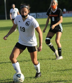 Croatan's Logan Howard is the area's offensive player of the year for the girls' soccer season. [Chris Miller / The Daily News]