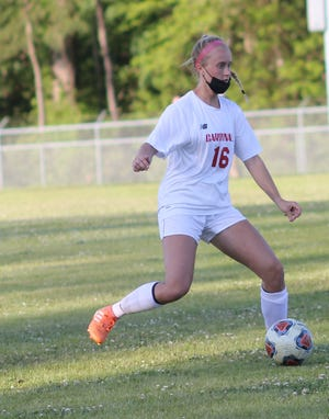 Jacksonville's Lauren Wernimont is The Daily News Defensive Player of the Year for the 2021 girls' soccer season. [Chris Miller / The Daily News]