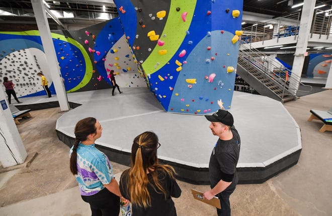 The USA Climbing Regionals will be staged Saturday and Sunday at First Ascent Peoria, which includes a 48-foot high wall (pictured in middle).