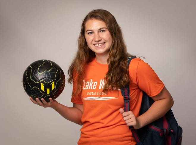 Lake Wales' Alicia Kralik ran cross country for three years, was on the swim team as a senior and played girls soccer and girls lacrosse for four years. She also graduated with a 4.818 GPA and was valedictorian.
