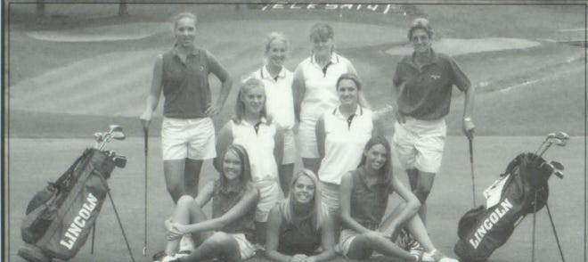 Pictures of the Past is from the 2005 Lincoln Community High School yearbook. The photo is of the Girls Golf team. From left is front are: Kristen Fleshman, Jeris Freesmeier and Ali Robinson. Second row from left Arielle Alley and Candace Schmidt. Third row from left: Juliann Papesch, Meghan Dean, Rachel Tabor and Coach Jan Bowers.