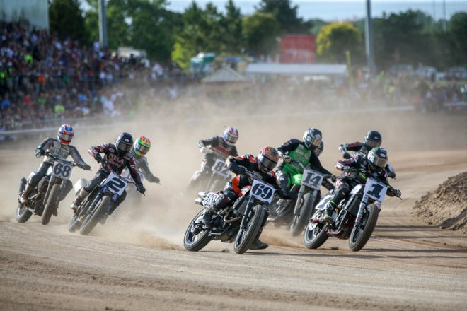 American Flat Track motorcycle racing returns to Remington Park this weekend. Gates open at 3 p.m. Saturday.