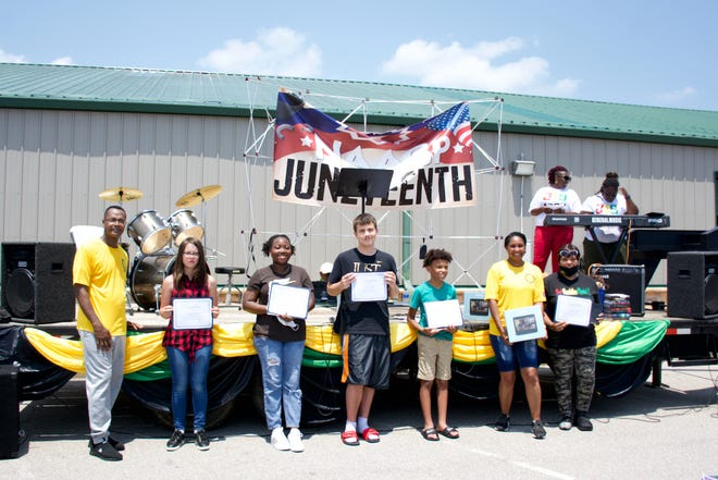 Waynesville R-VI students were recognized for their participation in the Juneteenth competition hosted by Blue Star Families during the NAACP's celebration of Juneteenth on Saturday, June 12, at the St. Robert Community Center.