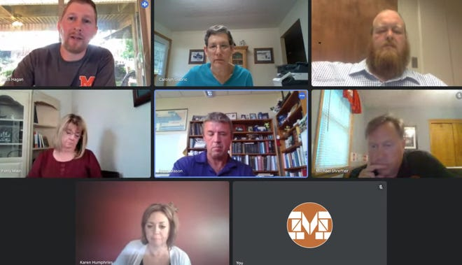 A screenshot of the Marlington Local Board of Education's virtual meeting on Thursday, June 17, 2021 on the district's YouTube channel.