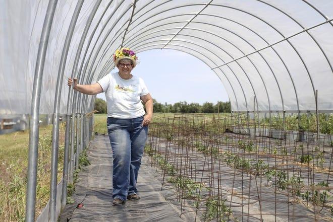 Sue Silberhorn, owner of Susie's Garden Patch in Garden Prairie, is pictured on Thursday, June 17, 2021.