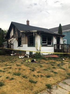 One person was killed and four others were injured during a fire Friday, June 18, 2021, in the 100 block of West Second Street in Belvidere. The house was destroyed. The cause of the fire is under investigation.